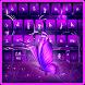 Purple Butterfly Keyboard Theme by Keyboard Theme Factory