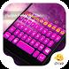Pink Galaxy Eva Emoji Theme by My Photos Keyboard Team