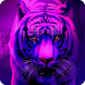 Tiger King Neon Roar by Backgrounds and Anime Launcher