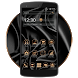 Metal Black Gold Theme by Classic Android Themes