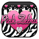 Pink Diamond Zebra Love Keyboard Theme by Hello Keyboard Theme