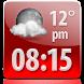 Glossy Clock Weather Widget by Super Widgets