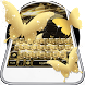 Golden Butterflies Keyboard by ChickenAnt Themes