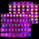 Grand Purple Emoji Keyboard Theme by Keyboard themes