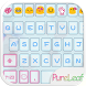 Love Leaf Emoji Keyboard Theme by Colorful Design