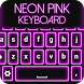 Neon Pink Keyboard Changer by Thalia Photo Corner