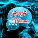 Blue Fire Theme GO SMS by Workshop Theme