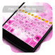 Pink Flower -Kitty Keyboard by Kitty Emoji Keyboard Design