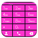 Dialer Cards Pink Theme by Luklek