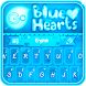 GO Keyboard Blue Hearts Theme by Inner Works Studios