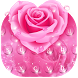 Pink Rose Dew Drops Floral keyboard by Keyboard Theme Creator