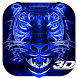 3D Blue Neon Tiger Theme by Elegant Theme