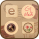 Vintage Letter iconstyle by iconnect