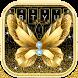Golden Luxury Butterfly Diamond Keyboard by Input theme