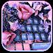 Glitter Rose Flower Keyboard Theme by NeoStorm We Heart it Studio